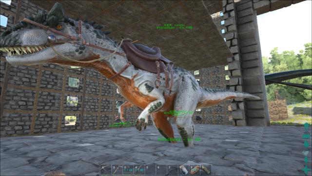 脚貫通アロサウルス