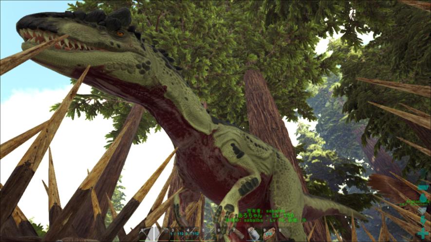 迫力のアロサウルス